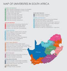 Pretoria South Africa Map by Map Of Universities Sassa