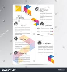 Resume Vector Cv Resume Template Vector Graphic Layout Stock Vector 340503155