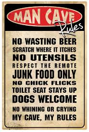 man cave rules tin sign connect4designs