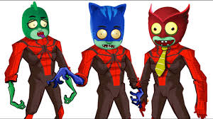pj masks spider man zombie coloring pages for kids pj masks