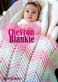 free crochet pattern pretty in pink chevron blankie dorothy