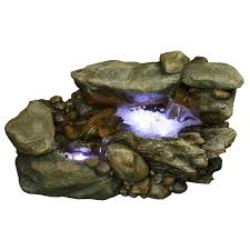 yosemite home decor 20 in river rock outdoor fountain fountains at