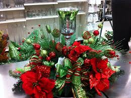 lime green and red christmas centerpiece i made it