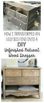 a diy unfinished natural wood dresser noting grace