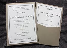 order wedding invitations formal black border gold swirl accent clutch pocket wedding