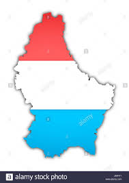 Luxembourg Map Vienna Blank European Caucasian Europe Flag Union Country