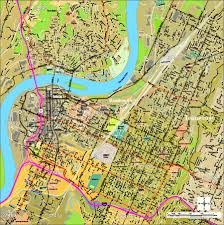map of chattanooga tn chattanooga digital vector maps editable illustrator