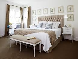 decorative bedroom ideas beige tufted kingsize headboard for classic bedroom ideas
