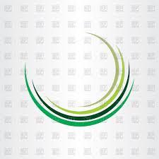 green half circle design royalty free vector clip image 77371