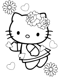 valentine u0027s kitty coloring free printable