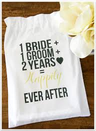 two year wedding anniversary gift diy 2nd wedding anniversary cotton gift bag wedding anniversary