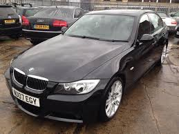 used bmw 3 series 2007 black paint petrol 320i m sport saloon for