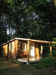 trapper u0027s tilt u201d log cabin built with local timber in crawford