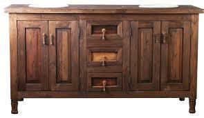 Double Sink Rustic Barnwood Vanity  Rustic Bathroom - Bathroom vanities double sink wood