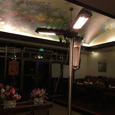 parasol patio heater amazon com yescom 1500w folding umbrella electric patio space