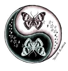 butterfly and stars yin yang tattoo design by denise a we u2026 flickr