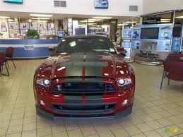 2014 ruby red ford mustang shelby gt500 svt performance package