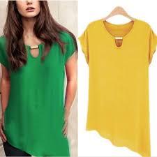 trendy blouses 2017 fashion color chiffon blouse summer trendy