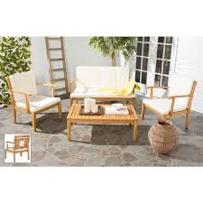 Patio Furniture Ventura Ca by Wood Patio Conversation Sets Outdoor Lounge Furniture The