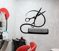 vinyl decal barber tools wall sticker from wallstickers4you i vinyl decal barber tools wall sticker hairstyle hair stylist hair salon beauty decor