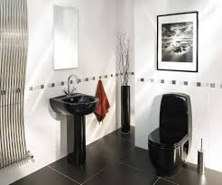 a bathroom with black details homemajestic