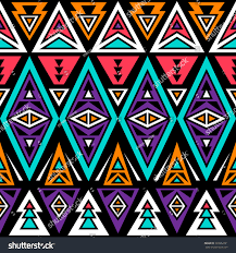 neon color tribal seamless pattern aztec stock vector 339962291