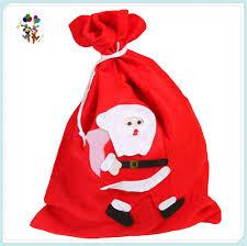 cheap felt xmas party diy large drawstring christmas gift bags hpc