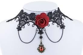 choker necklace black lace images Virtual store usa black lace choker pendant necklace beautiful jpg