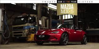 mazda cars australia 2016 wheels car of the year winner mazda mx 5 youtube