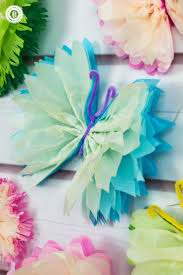 tissue paper butterflies fun paper craft diy country hill cottage