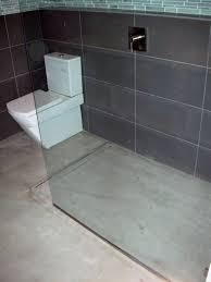Bathroom Shower Drains Bathroom Design Modern Open Concept Bathroom Featuring A Concrete