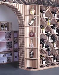 quarter round shelf end cap commercial wine rack