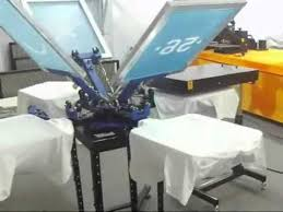 diy screen print india 4 color 4 station screen printing t shirt printing machine working