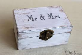 cottage chic jewelry box ring bearer box wedding ring box holder