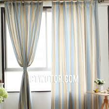 Blue And Beige Curtains Country Casual Cotton Organic Beige And Baby Blue Striped Curtains