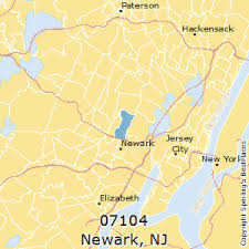 jersey area code map best places to live in newark zip 07104 jersey