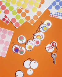 office supply crafts key tag jewelry martha stewart