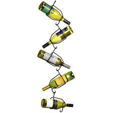 hanging zig zag 5 bottle wine holder from baytree interiors