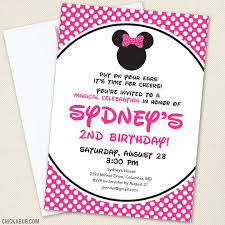 minnie mouse party invitations pink