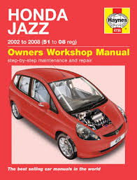 honda jazz 02 08 haynes repair manual haynes publishing
