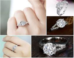 lab created engagement ring large lab created engagement ring compare with the real