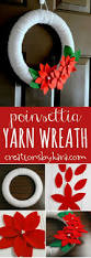 the 25 best christmas yarn wreaths ideas on pinterest diy door