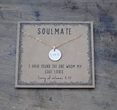 soulmate silver or goldfill layering necklace gift for