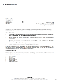 ppi claim letter template for credit card 100 images template