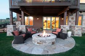patio with firepit and pergola u2014 jburgh homes amazing patio with