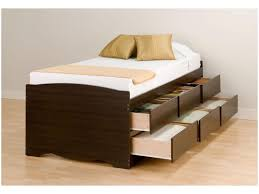 bed frame tall white wooden cupboard with twin bed on brown f