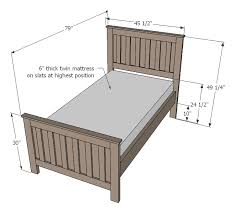 Dimension Of Twin Bed Ana White Kentwood Bed Diy Projects