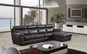chocolate sectional sofa modern chocolate leather sectional sofa shop for