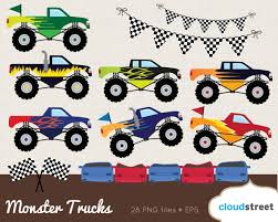 bigfoot monster truck coloring pages monster truck clipart images clipartxtras