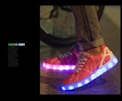 ladies light up shoes new fashion ladies women led shoes for adults glowing basket led